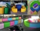 幼儿早教中心地垫定做 商场海洋球软包围栏定做 墙面软包定做