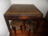楠木方桌 4只楠木坐凳转让