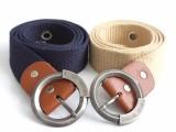 帆布腰带 圆环针扣帆布皮带 义务皮带厂家货源批发价格