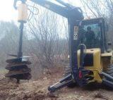 挖掘机配带螺旋钻机,挖掘机螺旋钻机价格,铲车改装螺旋钻机