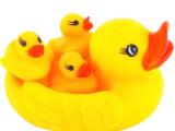 夏天热卖 浮水鸭子发声玩具 捏捏叫捏捏响玩具 宝宝洗澡玩具