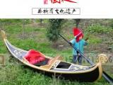 江苏名扬木船厂家专业制作画舫船游玩观光船贡多拉船欧式装饰船