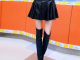 厂家直销 秋装新款女蓬蓬裙 欧美裙子 半身裙 秋冬 高腰短裙pu