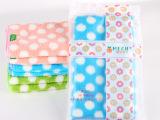 厂家直销韩国超细纤维珊瑚绒波点毛巾 干发巾35x75 超厚超强吸