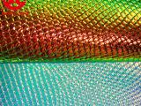 厂家供应优质最新款彩虹、幻彩、镭射系列环保PU皮 可来样订做
