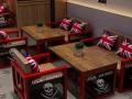 美式复古铁艺实木沙发loft工业风休闲餐桌椅组合咖啡厅沙发