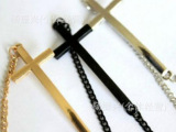 S82801 欧美范出口外单 朋克风个性金属十字架手链