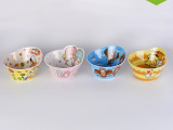 新型Hello Kitty多种密胺树脂碗 卡通可爱创意造型碗 美