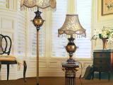 供应欧式布艺台灯 床头落地灯 创意装饰落地灯 欧式复古落地灯