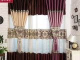 柯桥厂家直销 高档仿真丝拼接欧式窗帘面料 遮光度100%