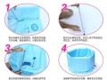 正品诺奥 夹棉可升降免充气浴缸折叠浴盆加厚洗澡泡澡