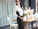 2014秋季长袖白色衬衫 淑女衬衫女装批发厂家 韩版女式衬衣长袖