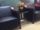 公司转让一批全实木办公桌、会议桌,商务真皮沙发组合