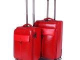 2014新款PU行李箱万向轮拉杆箱男女登机箱小额批发20寸24寸