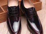 秋季新品时尚潮流尖头男鞋布洛克英伦风皮鞋韩版男士鞋子一件代发