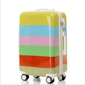厂家批发定做冰激凌糖果色拉杆箱配色行李箱万向轮旅行箱海关锁