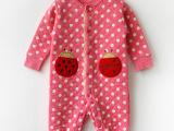 婴幼儿童装 宝宝长袖爬服 儿童空气层 哈衣 外出服连体衣加厚