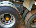 欧曼双驱半挂车拖头二拖三13米高低板平板仓栏二手货车