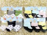 婴儿袜子纯棉 松口 宝宝袜0-6个月 新
