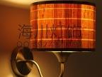 工厂定制木皮壁灯 木皮灯罩