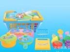 手提篮子配餐具水果 儿童新奇玩具 过家家