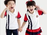 幼儿园园服夏季纯棉 2015新款儿童短袖校服套装小学生班服批发
