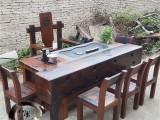 家具定制老船木实木家具复古功夫茶台阳台现代简约茶桌茶水柜