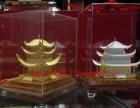 绒沙金岳阳楼摆件,岳阳楼绒沙金摆件,湖湘文化经典纪念品