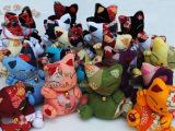 促销日本外贸原单和风布艺 招财猫公仔玩偶
