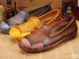 广州真皮女鞋厂家批发外贸真皮复古手工缝制休闲原创特色文艺女鞋