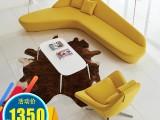 异形沙发个性沙发创意组合客厅月亮沙发会客商务接待室大厅沙发