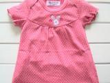 外贸出口 夏季薄款  纯棉舒适女宝宝儿童t恤  可爱花边红色圆点
