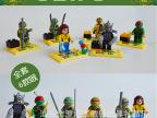 JLB 6款忍者龟赤马积木 儿童益智早教拼装玩具 公仔人仔玩具积木