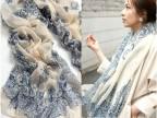 【供应】新款秋冬款围巾 青花瓷素雅图案 围巾 特价促销W1025