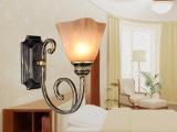 简约欧式田园壁灯创意灯具 客厅灯卧室灯床头壁灯A10一件代发
