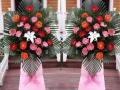 朝阳区实体鲜花店开业庆典花篮市区内免费配送代写条幅