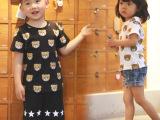 2015夏装新款泰迪熊纯棉男女儿童宝宝半袖亲子短袖T恤