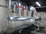 蒸汽管道保温工程施工玻璃棉毡不锈钢保温承包