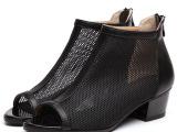 新款2014罗马凉鞋女粗跟鞋鱼嘴鞋短靴网靴鱼嘴女凉靴子