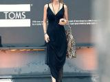 2014夏新款波西米亚吊带长裙欧美新品连衣裙莫代尔背心长裙
