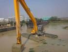 日本住友210型水陆挖掘机出租松软泥土处理