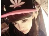 权志龙bboy枫叶麻叶平沿帽子滑板hiphop嘻哈帽 街舞帽