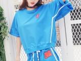 韩版服装批发今年流行的女装批发夏季牛仔裤批发低价糖果色T恤批