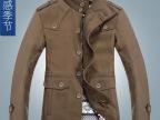 【男式风衣大衣】秋冬新款品牌立领韩版呢外套 呢子大衣男 1269