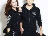 韩版新款男女卫衣三件套加绒加厚运动服全棉情侣装运动套装