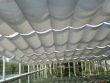 山西安装医院折叠式天棚帘商场采光顶玻璃顶帘订做