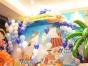 夏季海底世界气球造型、海豚、章鱼、水母、鲸鱼主题