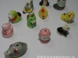 超萌陶瓷饰品摆件十二12生肖陶瓷装饰品糖果色手绘款批发