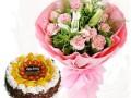 湖州吴兴南浔德清长兴安吉配送生日蛋糕鲜花开业花篮