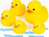 儿童洗澡小黄鸭迷你戏水小鸭子 宝宝戏水游泳捏叫玩具 戏水鸭子